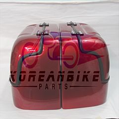 Aftermarket New Hard Trunk Saddlebags Red For Hyosung GV125 GV250