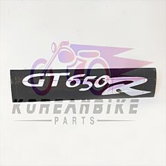 GT650R Shield Window Graphic Sticker Decal White Hyosung Models