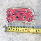 Aluminum Non-Slip Rear Brake Foot Pedal Pad Cover Large Red Daelim Models